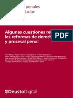 Cuadernos Lidon 10 - Algunas Cuestiones Sobre Reformas Del Derecho Penal y Procesal Penal