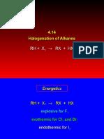 Halogenacion de Alcanos