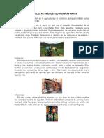 Principales Actividades Economicas Mayas
