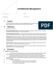 Research Data and Materials Management Procedure