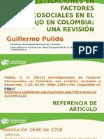Pulido Guillermo - Presentación Factores Psicosociales Colombia