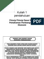 Prinsip Prinsip Dasar Ekonomi Pembangunan