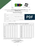 prueba Intermedia de matematica