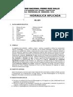 Silabo - Hidraulica Aplicada - Arbulu
