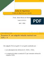Projeto de Algoritmos por Indução
