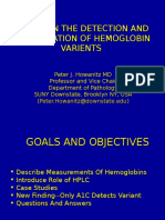 Identification of Hemoglobin Varients through HPLC