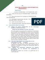 Diario Reflexivo Relacionado Con Mi Práctica Pedagógica Poly