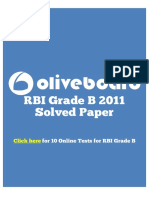 RBI Grade B 2011 Solved Paper