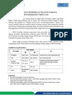 Draft Pengumuman Penerimaan Pegawai Tahap I Tahun 2016