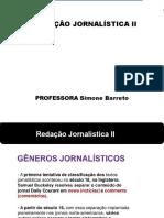 Redação Jornalística - Gêneros e estilos.ppt