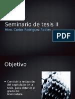Seminario de Tesis II PTT
