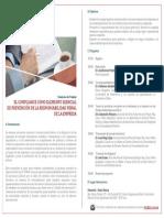 El Compliance como elemento esencial de prevención de la Responsabilidad Penal de la Persona Jurídica