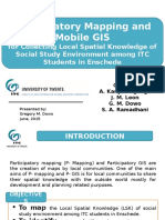Participatory Mapping and Mobile GIS for Collecting Local Spatial Knowledge of Social Study Environment among ITC Students in Enschede