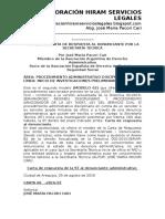 Modelo de Carta de Respuesta Al Denunciante Por La Secretaría Técnica