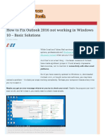 How to Fix Outlook 2016 Not Working in Windows 10 - Basic Solutions