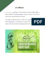 Swachh Bharat Abhiyan