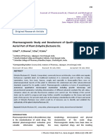 Pharmacognostic Study and Develoment of Quality Parameters of Aerial Part of Plant Enhydra fluctuans Dc.