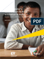 EY_role of Private Sector on K 12 Education in India_2014