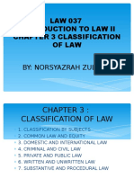 CHAPTER 3 Clasification of Law