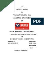 Project Report on Kotak Life Insurance(1)