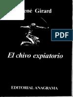 El Chivo Expiatorio Rene Girald