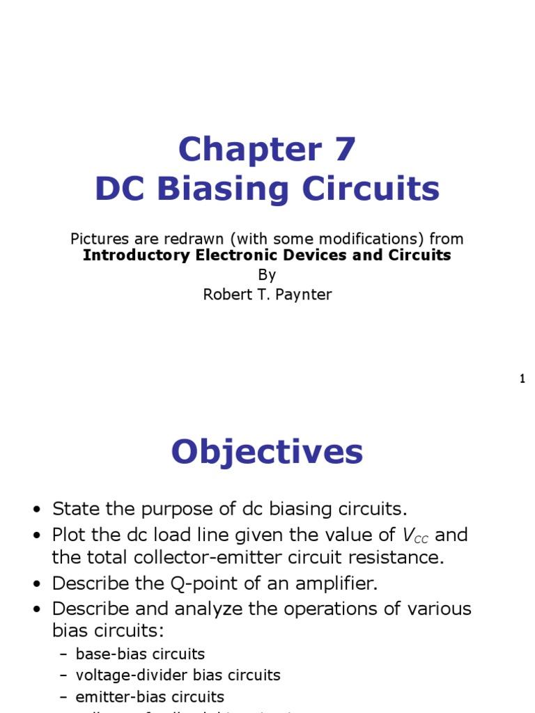 Transistor Biasing Amplifier Electronic Circuits Voltage Divider Electronics Tutorials