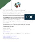 Realestate Appraiser Course List