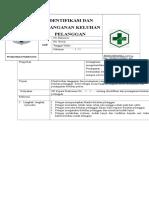 Sop Identifikasi Dan Penanganan Keluhan Pelanggan