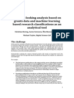 093 - Forward-looking analysis based on grants data and machine learning based research classifications as an analytical tool