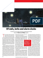 Of owls, larks and alarm clocks