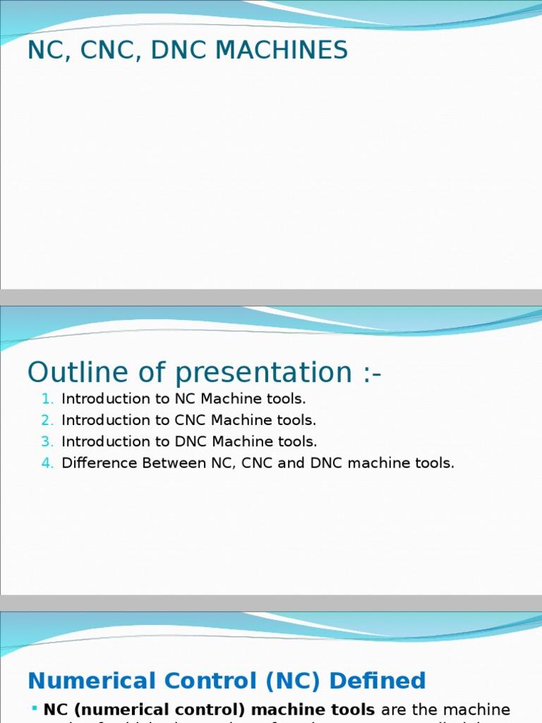 NC,CNC,DNC  ppt | Numerical Control | Computer Data Storage