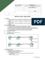 Contoh Report Sheet