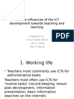 Postive Influences of Ict Towards Teachers Development