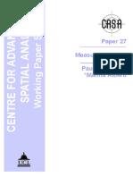 Torrens, P. M., & Alberti, M. (2000). Measuring Sprawl. CASA Working Paper