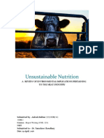 Unsustainable Nutrition