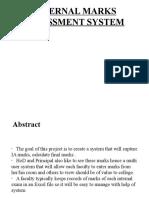Internal Marks Assessment System