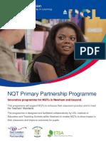 NQT Primary Partnership Programme - 2016-17
