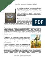 Evangelización Franciscana en America