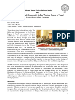 Report on Haliya Policy Debate-27 July, 2012