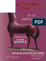 Exposition Art Avranches 2016  - le catalogue