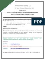 MB0053 –International Business Management-smu Summer Solved Assignment