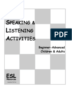 50 Listening and Speaking Activities - SAMPLE PAGES