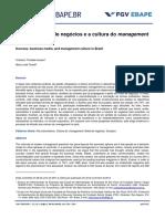 Sucesso, Mídia de Negócios e a Cultura Do Management No Brasil