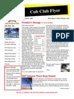 Cub Club Flyer September 2007