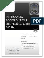 Implicancia Sociopolíticas Del Proyecto Tía María Final