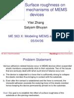 Failure Mechanism of MEMS Device