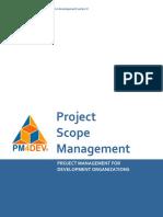 PM4DEV Project Scope Management