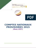 Les Comptes Nationaux Provisoires 2015 (Base 2007)