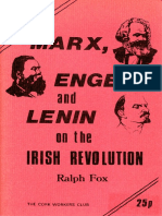 Marx Engels and Lenin on the Irish Revolution Ralph Fox Cork Workers Club 1974