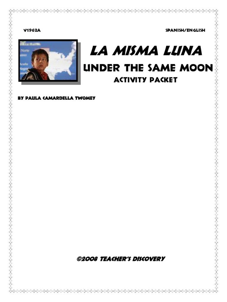 Uncategorized La Misma Luna Worksheet bajo la misma luna act 2 pdf